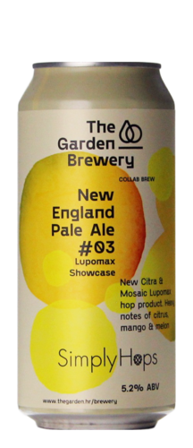 The Garden / Simply Hops New England Pale Ale #03 Lupomax Showcase